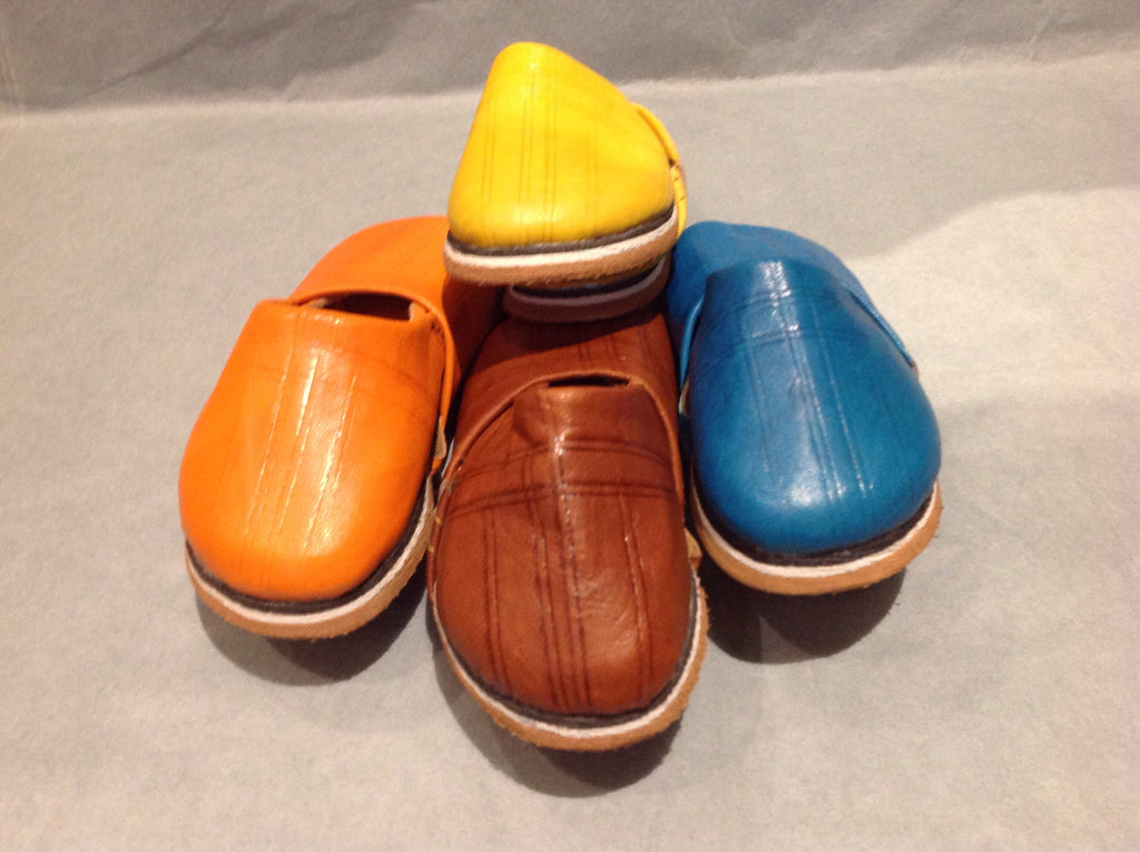 Children's Leather Babouche FF-Babouches-MODA MEDINA