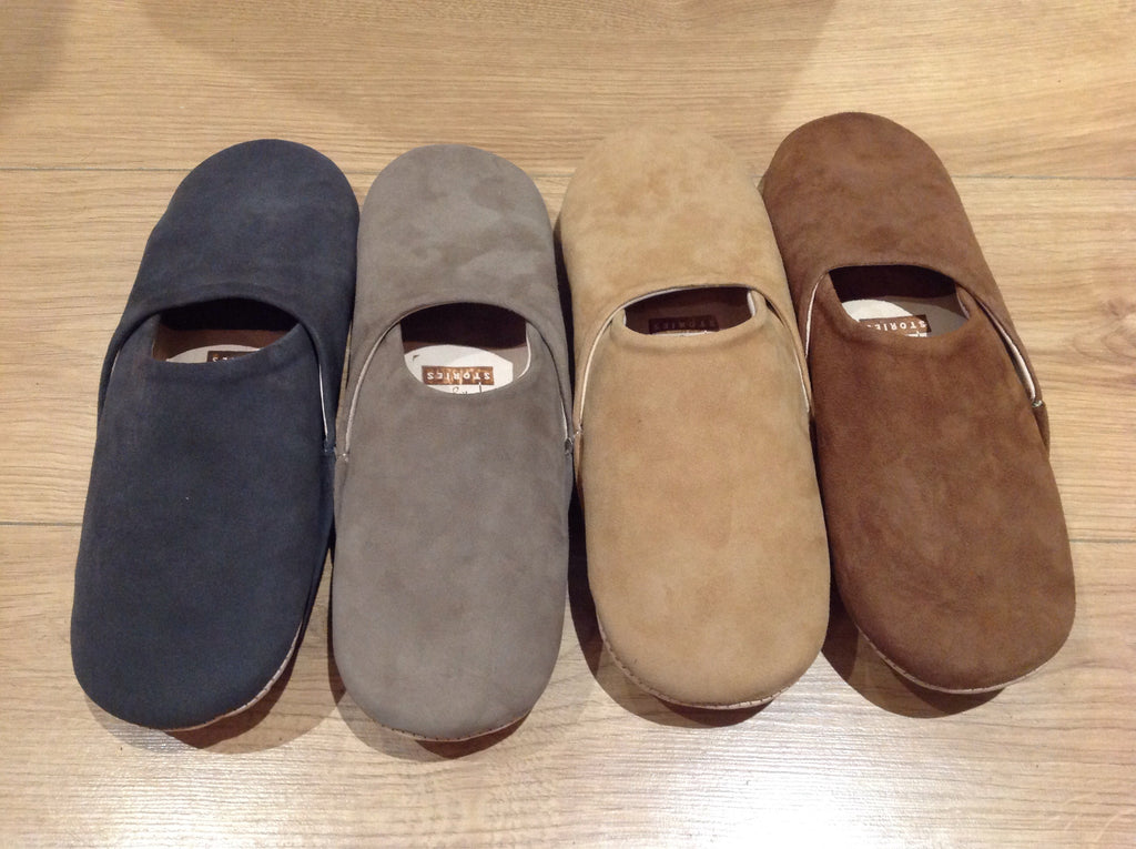 Ladies Suede Slippers FF-Slippers-MODA MEDINA