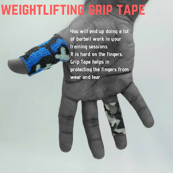 Weightlifting Grip Tape.