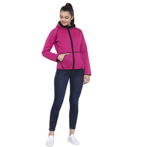 The SweatShop Reversible Neoprene Jacket ( Women's, Black/ Hot Pink )