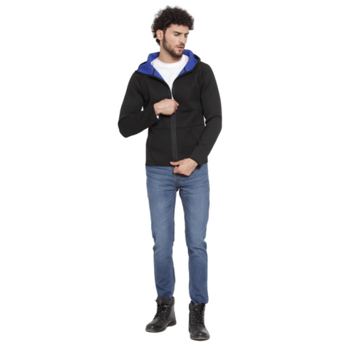 The SweatShop Reversible Neoprene Jacket ( Men's, Black/Ink Blue )