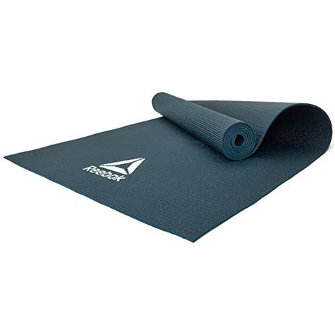 Reebok Yoga Mat, 4mm ( RAYG-11022DG,Dark Green )  https://thesweatshop.club/products/reebok-yoga-mat-4mm-rayg-11022dg-dark-green  Ideal for yoga, Pilates and general ground exercise; the Reebok 4mm Yoga Mat strikes a middle-ground between comfort and stability. The 4mm thick cushioned Yoga mat from Reebok is the perfect choice. 173 x 61cm in size.Buy online India.Cod available.A