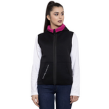 The SweatShop Reversible Neoprene Jacket ( Women's , Black/ Hot Pink ) : Reversible Women's Jacket. Reversible Women's Sleeveless jacket vest. Buy online india. c