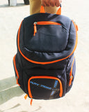 The SweatShop Backpack (Blue / Orange)