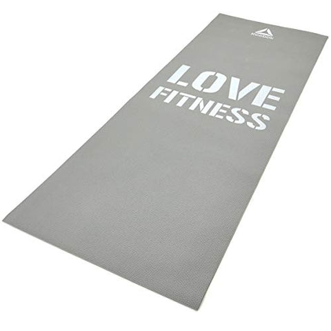 Made for floor based activities which help develop strength, posture and flexibility, the stylish Love Fitness mat from Reebok, provides a comfortable, cushioned surface for your back, hands and feet when performing every type of move.  Size : 173 x 61 cm Thickness : 0.4 cm. Buy online India. a
