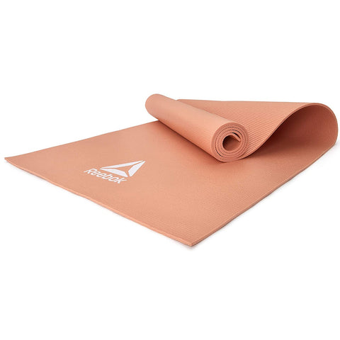 Reebok Yoga Mat, 4mm ( RAYG-11022DD,Desert Dust )  https://thesweatshop.club/products/reebok-yoga-mat-4mm-rayg-11022dd-desert-dust  Ideal for yoga, Pilates and general ground exercise; the Reebok 4mm Yoga Mat strikes a middle-ground between comfort and stability. The 4mm thick cushioned Yoga mat from Reebok is the perfect choice. 173 x 61cm in size.Buy online India.Cod available a