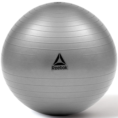 REEBOK GYMBALL Grey - 65cm (RAB-12016GRBL)  https://thesweatshop.club/products/reebok-gymball-grey-65cm-rab-12016grbl  Reebok Gymball - Versatility for improved all-round fitness. Possibly one of the most versatile and accessible pieces of training equipment, a gymball can be used to perform a wide variety of exercises which will considerably improve your core strength, posture, and flexibility. Buy Online India. COD available.a