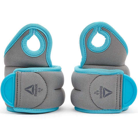 Reebok Wrist Weights  https://thesweatshop.club/products/reebok-wrist-weights-0-5kg-x-2-rawt-11070bl  Comfortable, adjustable and secure, the pair of 0.5kg / 1Kg / 1.5Kg grey and blue wrist weights from the REEBOK Training range feature a unique thumb sleeve as well as an easily adjustable hook and loop closure.Buy online India.COD AVAILABLE.a