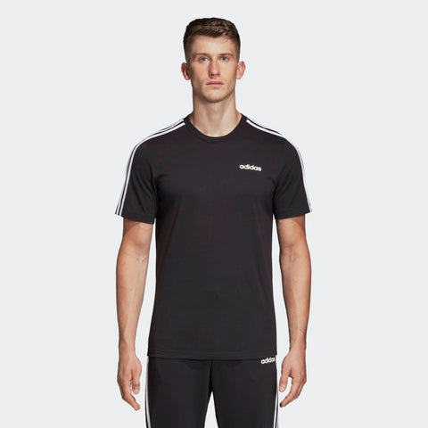 ADIDAS MEN'S ATHLETICS ESSENTIALS 3-STRIPES T-SHIRT - BLACK/WHITE  https://thesweatshop.club/products/adidas-mens-classic-3-stripes-sport-tee  ADIDAS MEN'S CLASSIC 3 STRIPES WHITE/BLACK TEE Style that goes from practice to the street. Contrast 3-Stripes on the sleeves of this men's t-shirt give it a sporty authentic touch. The tee is made of polyester single jersey fabric for a soft feel.BUY ONLINE INDIA.COD AVAILABLE.A