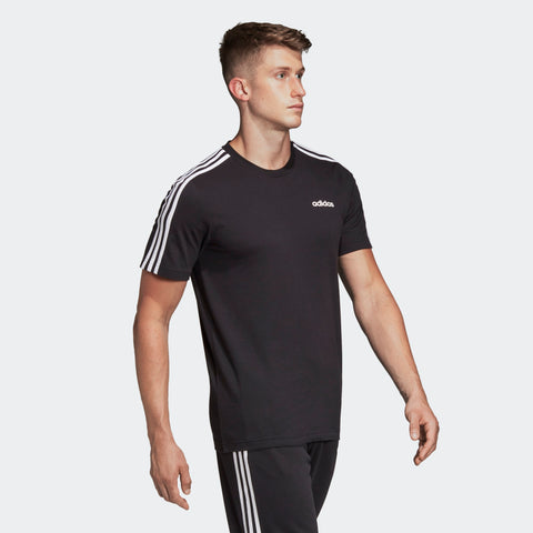 ADIDAS MEN'S ATHLETICS ESSENTIALS 3-STRIPES T-SHIRT - BLACK/WHITE  https://thesweatshop.club/products/adidas-mens-classic-3-stripes-sport-tee  ADIDAS MEN'S CLASSIC 3 STRIPES WHITE/BLACK TEE Style that goes from practice to the street. Contrast 3-Stripes on the sleeves of this men's t-shirt give it a sporty authentic touch. The tee is made of polyester single jersey fabric for a soft feel.BUY ONLINE INDIA.COD AVAILABLE.B