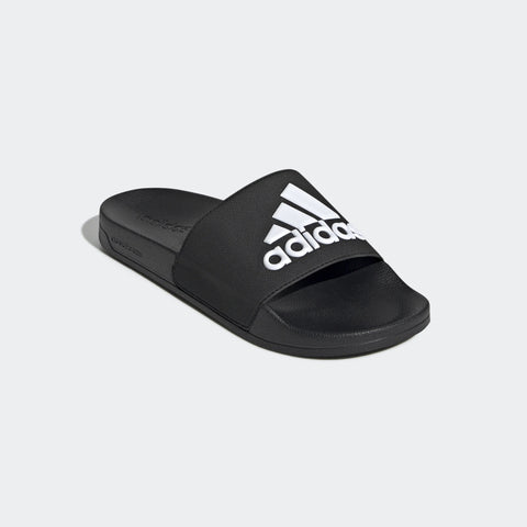 ADIDAS MEN'S ESSENTIALS ADILETTE SHOWER SLIDES (F34770, CORE BLACK / CLOUD WHITE / CORE BLACK)