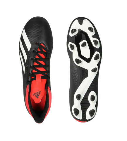 ADIDAS Men's Football X 18.4 Firm Ground Football Shoes- Core Black, Off White and Active Red -Lightweight, durable football studs.Buy online India.COD available a