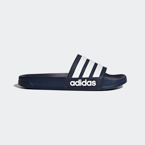 ADIDAS MEN'S ESSENTIALS ADILETTE CLOUDFOAM SLIDES ( AQ1703, COLLEGIATE NAVY / CLOUD WHITE / COLLEGIATE NAVY )