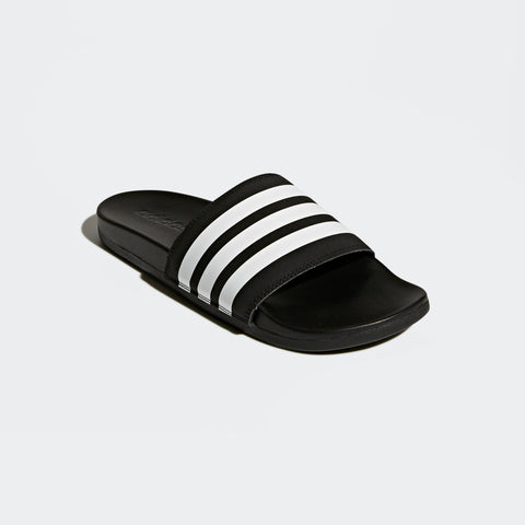 ADIDAS MEN'S ESSENTIALS ADILETTE COMFORT SLIDES (AP9971, CORE BLACK / CLOUD WHITE / CORE BLACK)