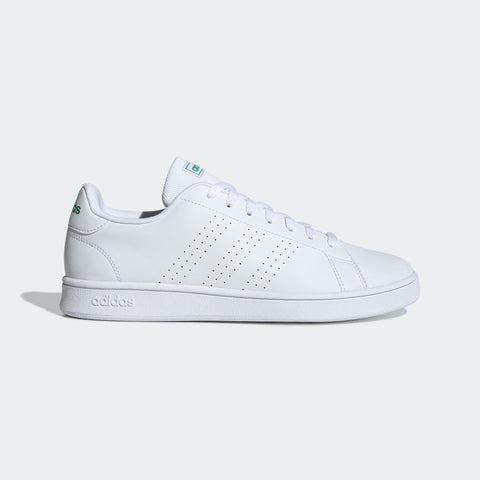Adidas Men's Sport Inspired ADVANTAGE BASE SHOES ( EE7690,Cloud White …  https://thesweatshop.club/products/adidas-essentials-vs-advantage-clean-shoes-ee7690-cloud-white-cloud-white-green  ADVANTAGE BASE SHOES CASUAL TRAINERS WITH TENNIS-INSPIRED STYLE. A court look emerges on the streets. These shoes have a sleek leather-like upper punctuated with perforated 3-Stripes. The low-profile shape rides on a smooth rubber cupsole.Buy online India.COD available.a