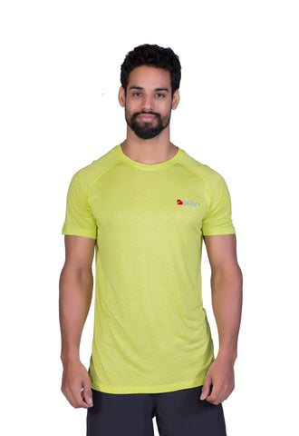 Brav Activewear Bamboo Plain Men's T Shirt - Neon Green