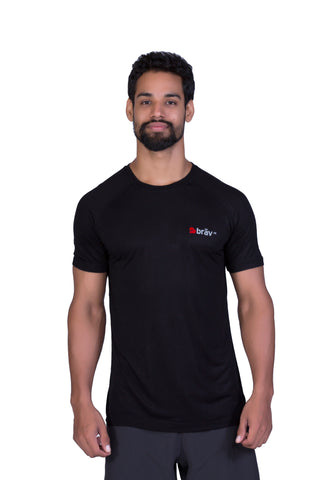 Brav Activewear Bamboo Plain Men's T Shirts - Classic Black