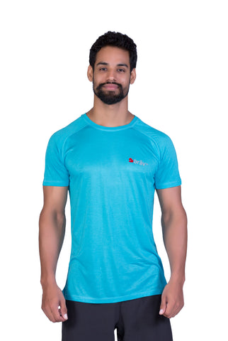 Brav Activewear Bamboo Plain Men's T Shirt - Sunny Blue