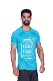 Brav I Can I Will End of Story Activewear Bamboo Men's T Shirt