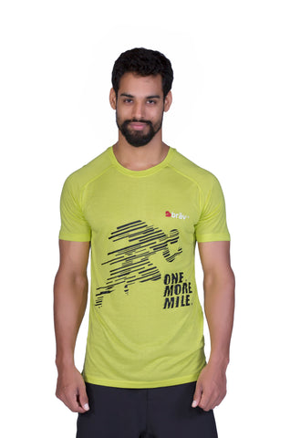 Brav Bamboo T Shirt - Activewear (Men's) Yellow Graphic T