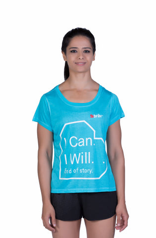 Brav Bamboo T Shirt - Activewear (Women's) Blue