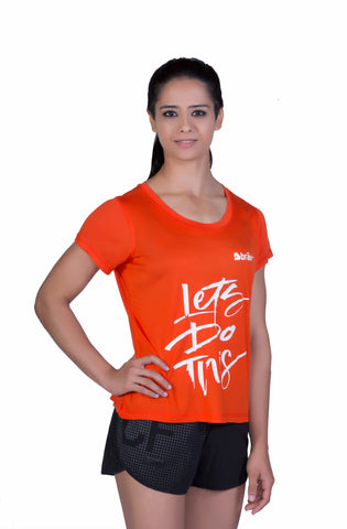 Brav Bamboo T Shirt - Activewear (Women's) Tangy Red Graphic T