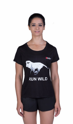 Brav Bamboo T Shirt - Activewear (Women's) Black Graphic T