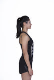 Brav Wake Up Kick Ass Repeat Women's Racerback Tee - Black