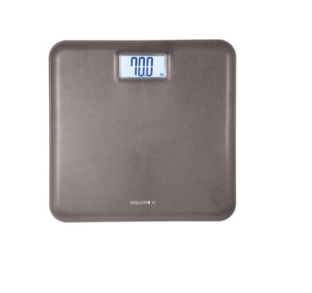 EQUINOX PERSONAL WEIGHING SCALE-DIGITAL EQ-EB-6171L https://thesweatshop.club/products/equinox-personal-weighing-scale-digital-eq-eb-6171l Equinox Digital Weighing Scale. Capacity 180 Kg Leather look with ABS platform Large LCD with white backlight display Auto-step-on feature.