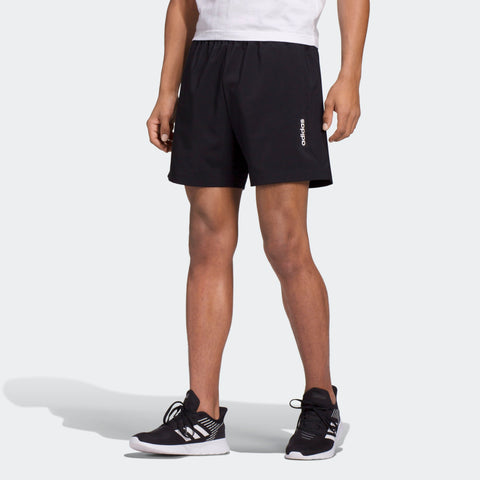 ADIDAS MEN'S LIFESTYLE ESSENTIALS PLAIN CHELSEA SHORTS - BLACK / WHITE
