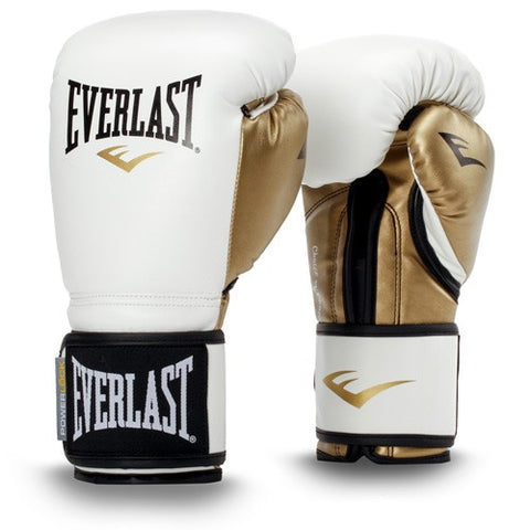 The Everlast PowerLock Boxing Training Gloves were designed with a modern, anatomical foam construction that guides your hand into a natural fist position. Colour White / Gold. Available in 10oz, 12oz & 14oz. Shop India online. COD available. a