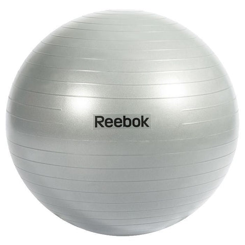 Reebok Gym Ball Grey ( 55cm / 65cm / 75cm ) The Reebok Gymball is one of the most versatile pieces of exercise equipment for improved all-round fitness. Come in 3 sizes - 55cm Gym Ball, 65cm Gym Ball, 75cm Gymball. Buy Online India. COD Available c