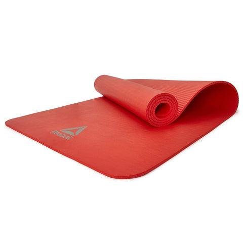 Reebok 7mm Training Mat ( RAMT-11014RD ) - RED .Designed for general ground exercise, the 7mm Reebok Fitness Mat has a ridged base to increase stability for stronger workouts, Yoga, Pilates etc. Buy online India. COD available a