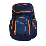The SweatShop Backpack (Blue / Orange)- Spacious, durable and lightweight backpack. Buy online India. COD available c