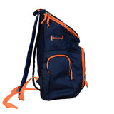 The SweatShop Backpack (Blue / Orange)- Spacious, durable and lightweight backpack. Buy online India. COD available g