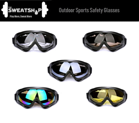The SweatShop Outdoor Sports Safety Glasses: Used for outdoor activities, such as cycling, climbing, riding, etc. After all, we are serious about protecting your eyes right? Buy online India a