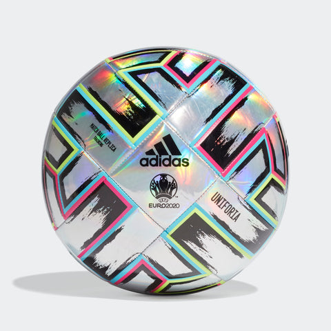 UNIFORIA TRAINING BALL A TRAINING BALL CELEBRATING EUROPEAN FRIENDSHIP. Twelve hosts, 24 national teams. A continent united in sport. Made for training and scrimmages, this adidas Uniforia soccer shows off a bold design based on the one covering the official match ball.bUY ONLINE iNDIA. cod AVAILABLE a