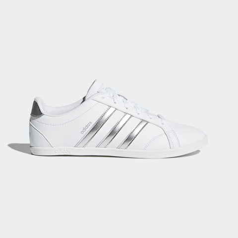 ADIDAS WOMEN's LIFESTYLE VS CONEO QT SHOES  https://thesweatshop.club/products/adidas-womens-lifestyle-vs-coneo-qt-shoes  ADIDAS WOMEN'S VS CONEO QT SHOES Hardcourt style with a feminine shape. These girls' shoes have a low profile with a thin rubber cupsole. Made in a leather-look upper with glossy 3-Stripes..Buy online India.COD available. A