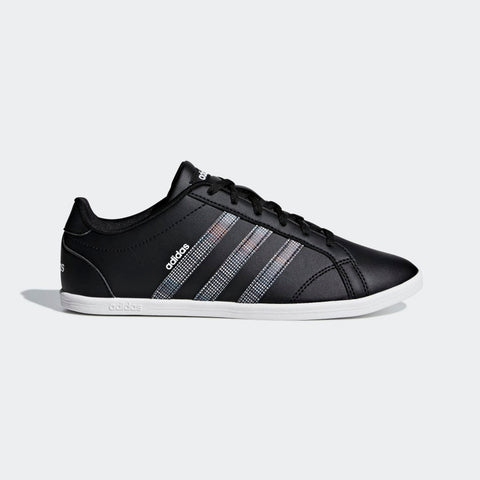 ADIDAS WOMEN's LIFESTYLE VS CONEO QT SHOES ( CORE BLACK / CORE BLACK /…  https://thesweatshop.club/products/adidas-womens-lifestyle-vs-coneo-qt-shoes-core-black-core-black-active-purple  ADIDAS WOMEN'S VS CONEO QT SHOES Hardcourt style with a feminine shape. These girls' shoes have a low profile with a thin rubber cupsole. Made in a leather-look upper with glossy 3-Stripes..Buy online India.COD available.