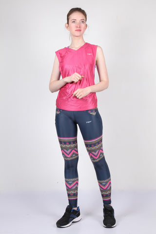 Yogue Active Wear - Women's Leggings / Tights (Indian Ornament)