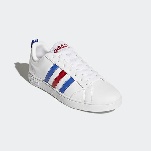 Adidas Essentials VS Advantage Shoes ( F99255,White/Blue/Power Red) These court-inspired casual sneaker shoes add style with stitched 3-Stripes on the outer side and perforated 3-Stripes on the inner side c
