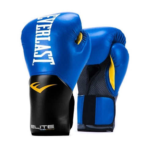 The Everlast Elite Pro Style Boxing Training Glove - Blue features a revolutionary one-piece design that optimizes fist placement and promotes natural range of motion. New! Buy Online India. COD Available b