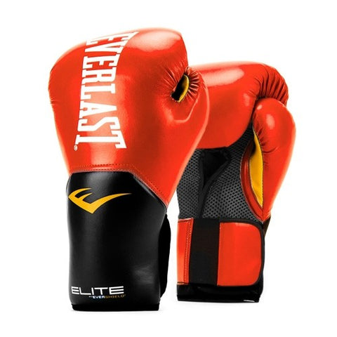 The Everlast Elite Pro Style Boxing Training Glove - Red features a revolutionary one-piece design that optimizes fist placement and promotes natural range of motion. New! Buy Online India. COD Available a