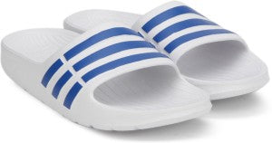 ADIDAS KID'S ESSENTIALS DURAMO SLIDES (BB3665 | FTWWHT/BLUE/BLUE)  https://thesweatshop.club/products/adidas-boys-essentials-adilette-cloudfoam-slides-aq1702-cloud-white-core-black  ADIDAS KIDS DURAMO SLIDES MINIMALIST SLIDES THAT CAN BE WORN ANYWHERE. An updated version of a classic, these slides are ideal for wearing either before or after you exercise. .bUY ONLINE India. cOD AVAILABLE A