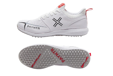 PAYNTR V Pimple Cricket Studs- Classic White  https://thesweatshop.club/products/payntr-v-pimple-cricket-studs-classic-white    PAYNTR V PIMPLE CRICKET STUD SHOES. Innovate your game with the PAYNTR V. Offering a high-performance shoe, at an affordable price. Provides responsive padding around the ankle and neckline to ensure comfort, protection and support. Buy online India.COD available.a
