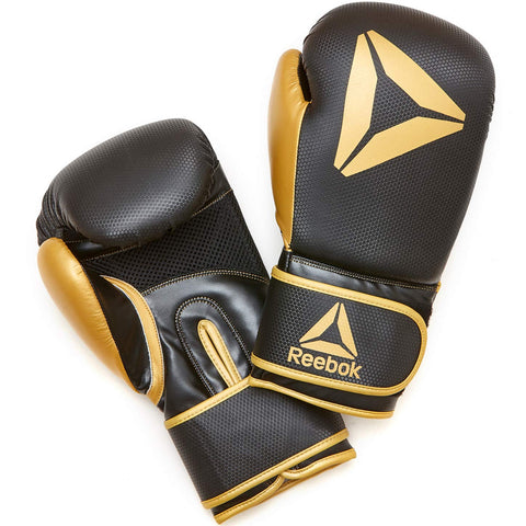 Reebok Boxing Gloves - Black / Gold 10oz, 12oz, 14oz, 16oz.5mm gel shock absorption for protection and comfort at the point of contact. Buy online India.COD available a