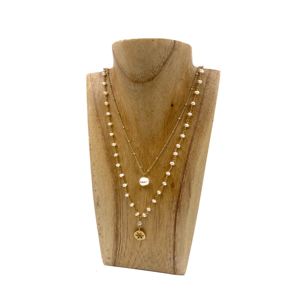 Collier double - flocon