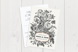 A6 Flat Wedding Invitation Ref.: A6FLT001