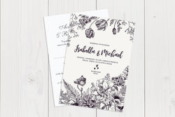 A6 Flat Wedding Invitation Ref.: A6FLT002