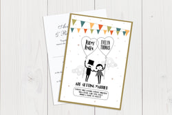 A6 Flat Wedding Invitation Ref.: A6FLT003
